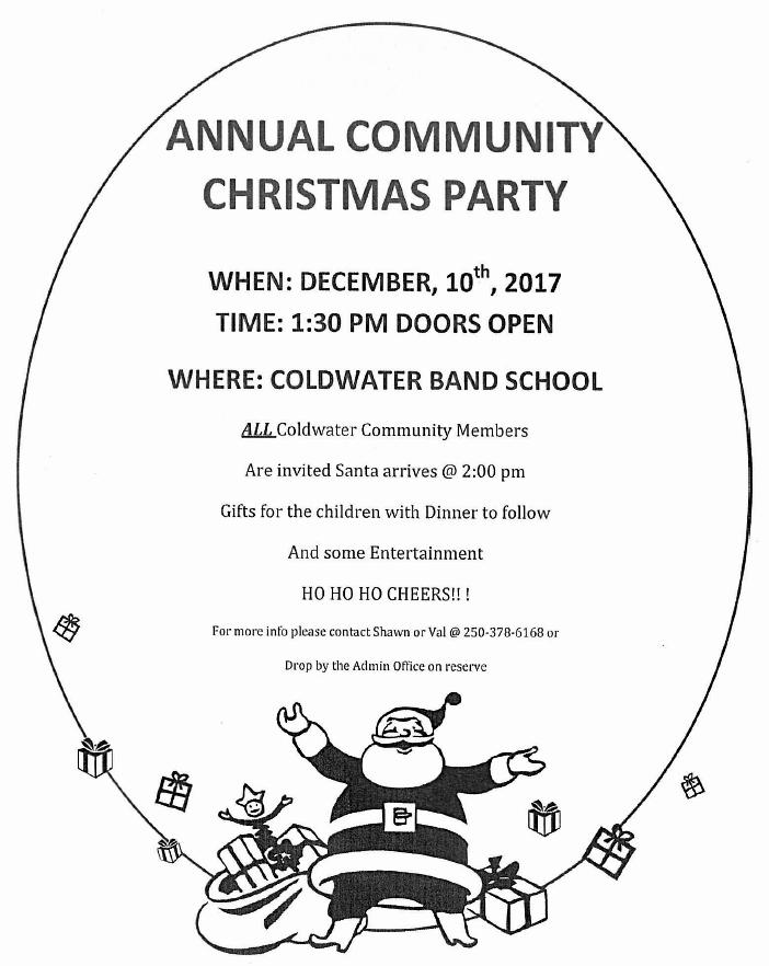 Coldwater Christmas Party Dec 10, 2017